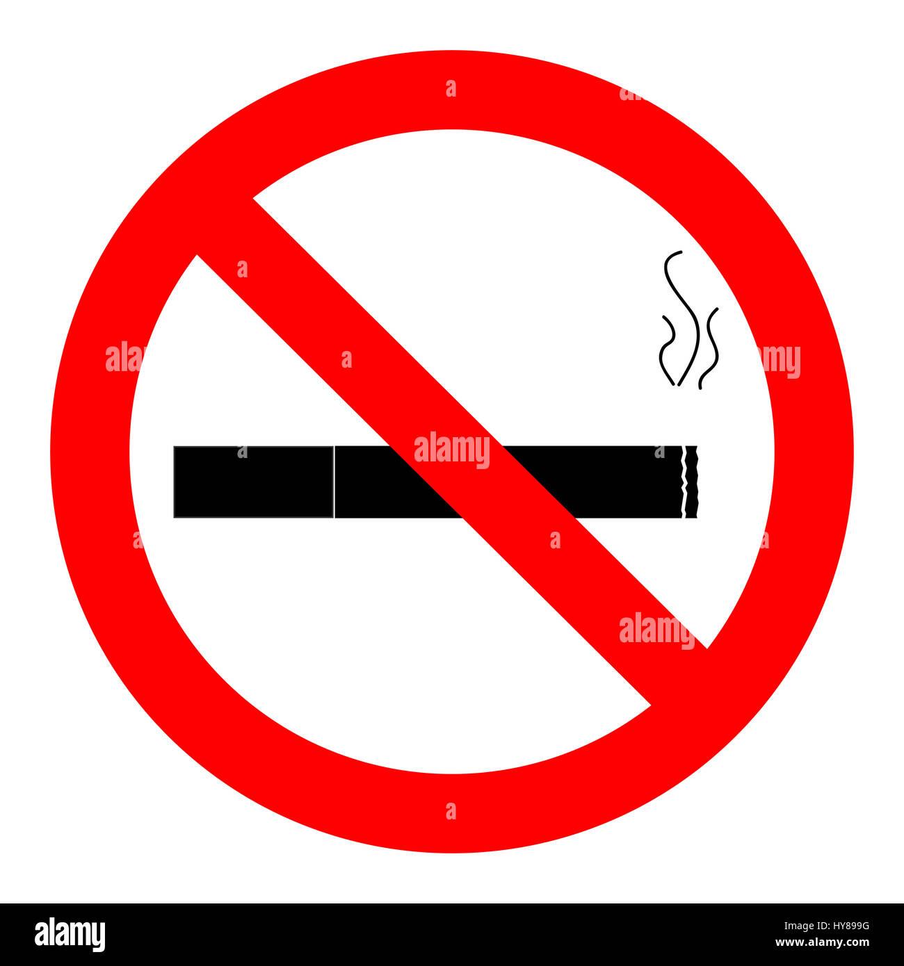 ban smoking icon no cigarette sign vector illustration stock photo