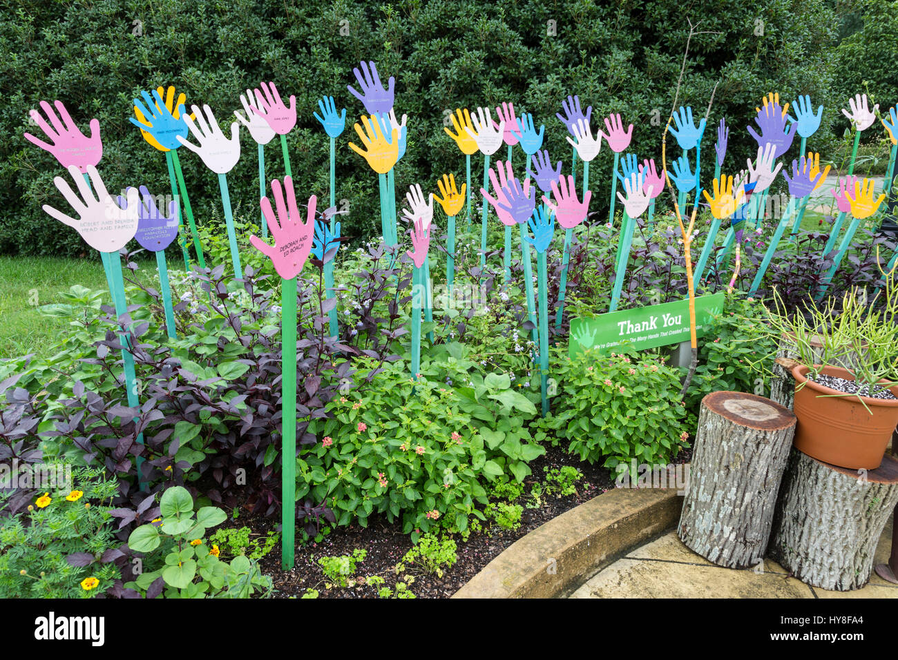 richmond, virginia. lewis ginter botanical garden, children's stock