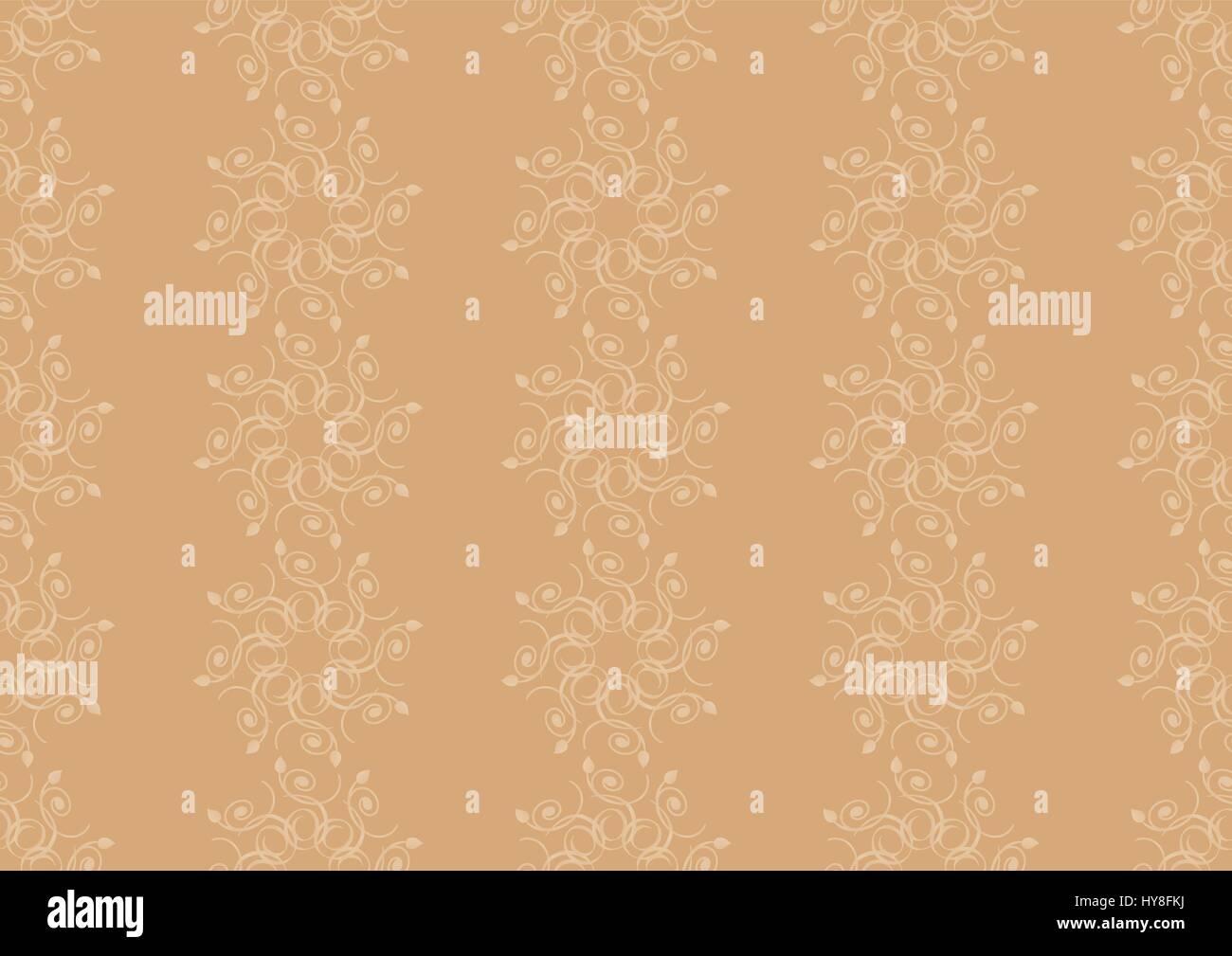 Seamless wallpaper pattern - Stock Image
