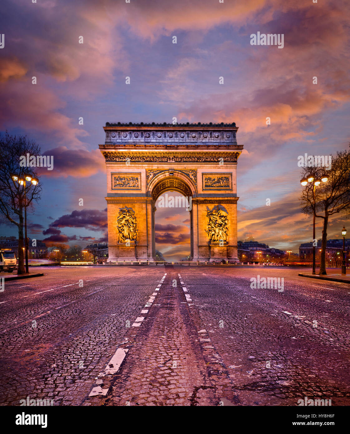 France, Paris, Arc de Triomphe - Stock Image