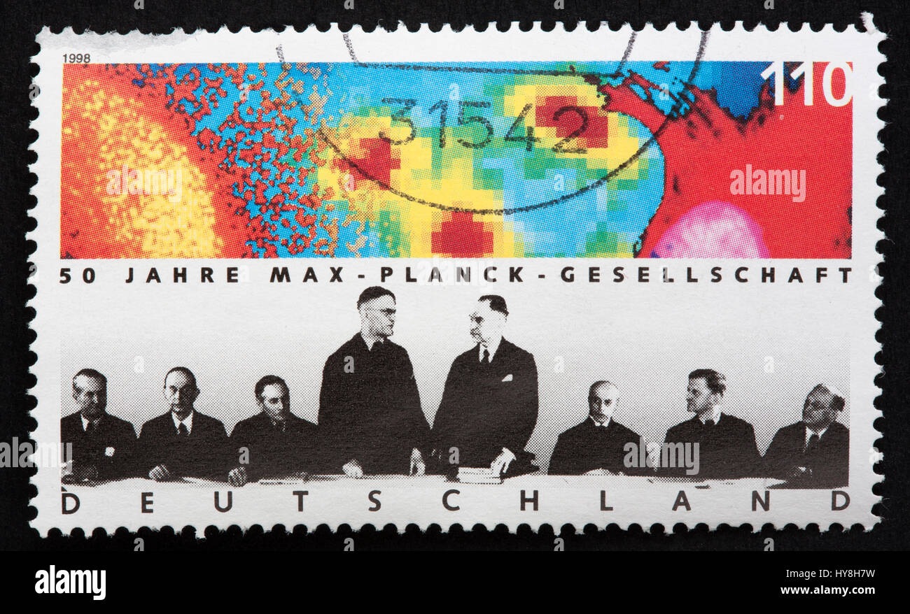 German postage stamp - Stock Image