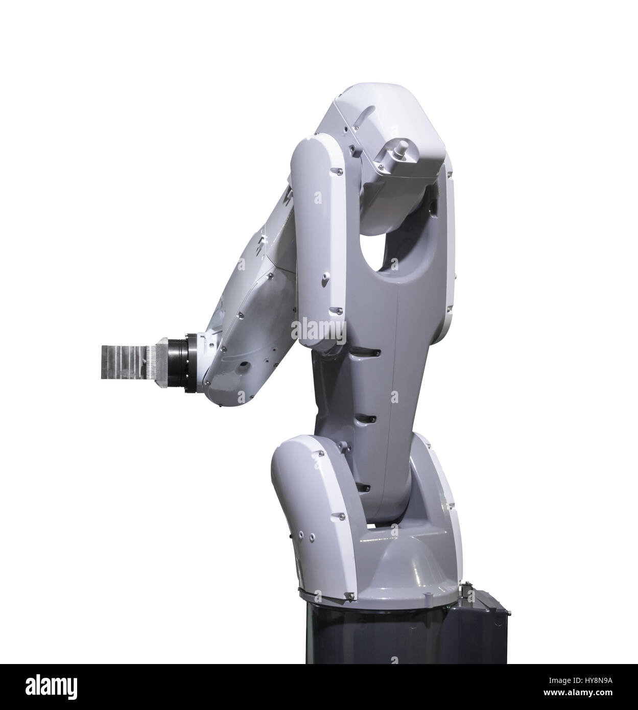 Industry robotic arm isolated included clipping path Stock Photo