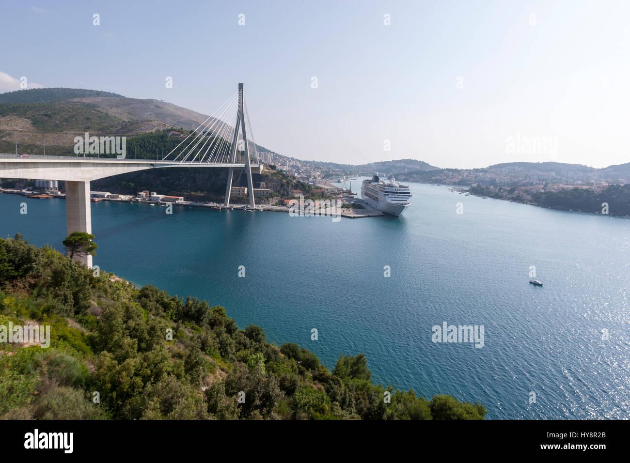 dubrovnik cruise port, Dubrovnik-Neretva, Croatia - Stock Image