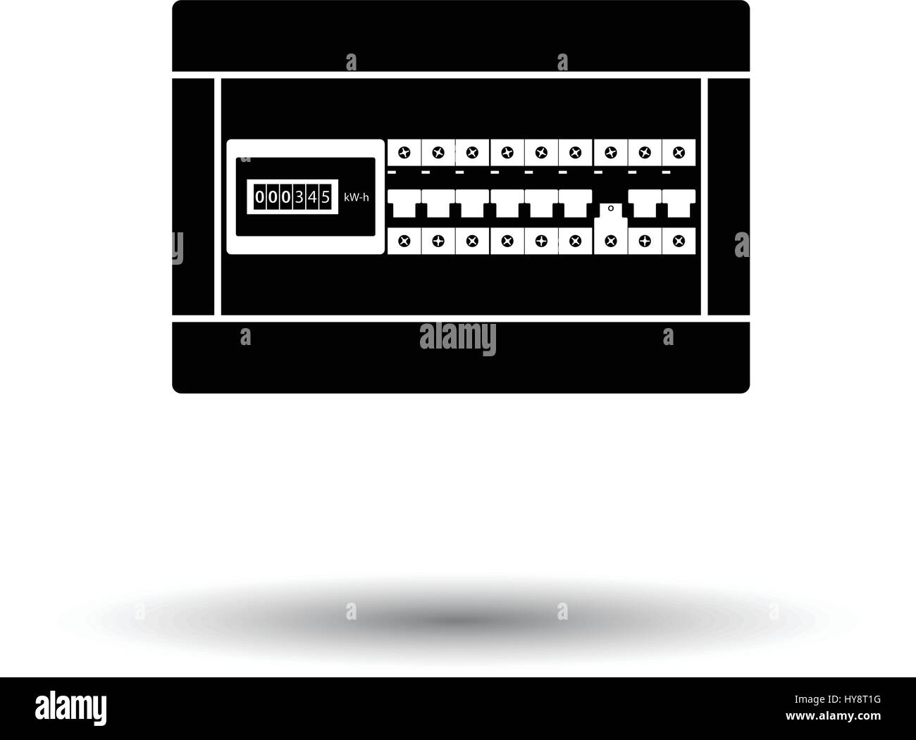 Fuse Box Stock Vector Images Alamy Icons Circuit Breakers Icon White Background With Shadow Design Illustration