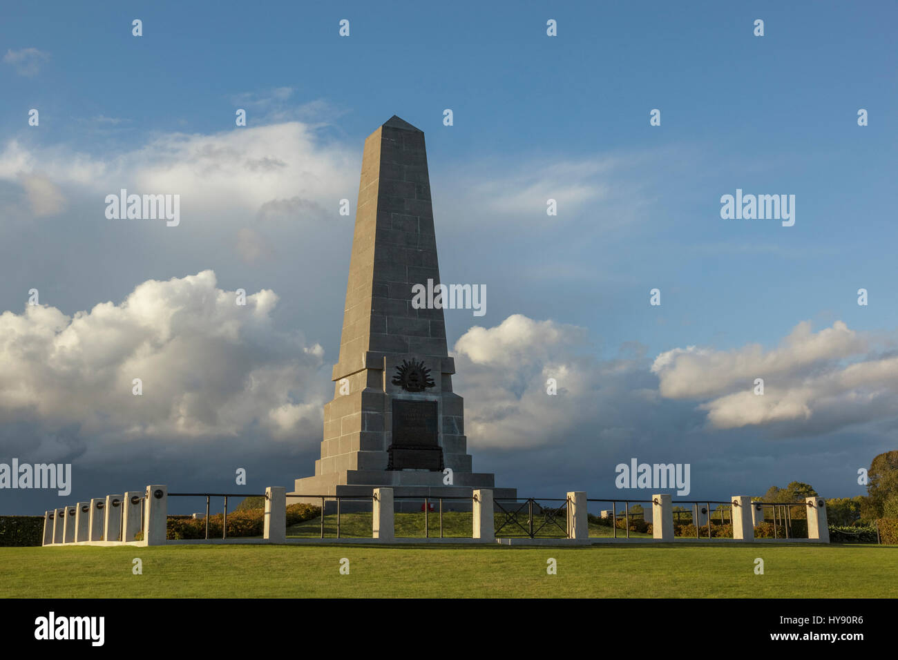 The First Australian Division Memorial – Pozières, France. The Australian Imperial Force had 7,700 casualties - Stock Image