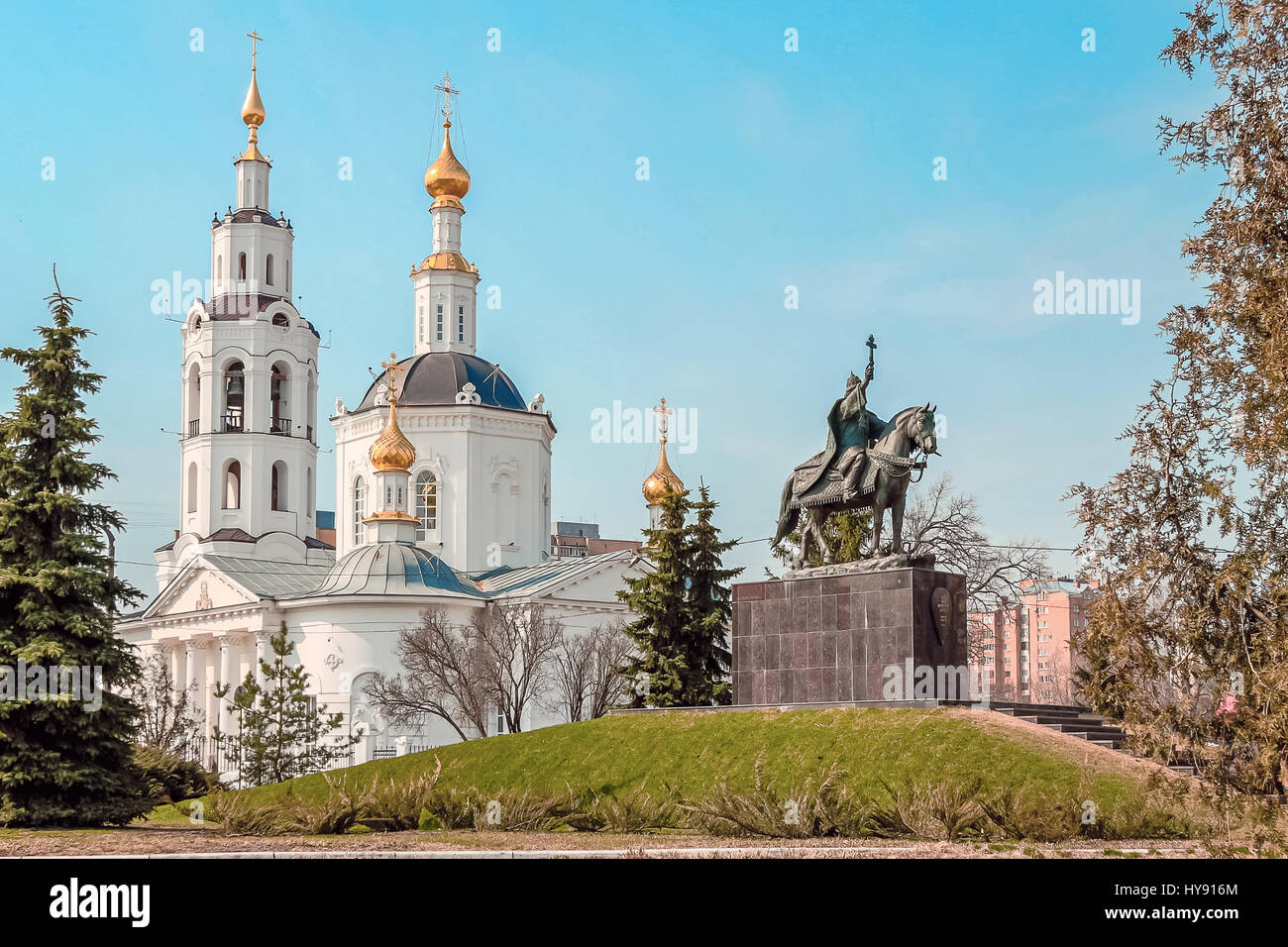 Epiphany Cathedral in Oryol - Stock Image