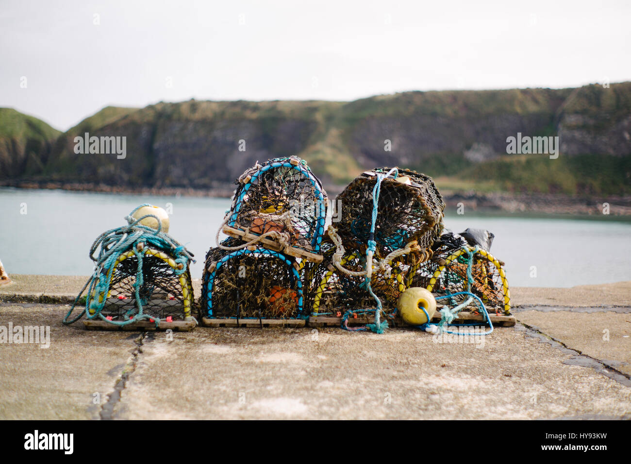 Stonehaven Harbour, in the North East of Scotland. - Stock Image