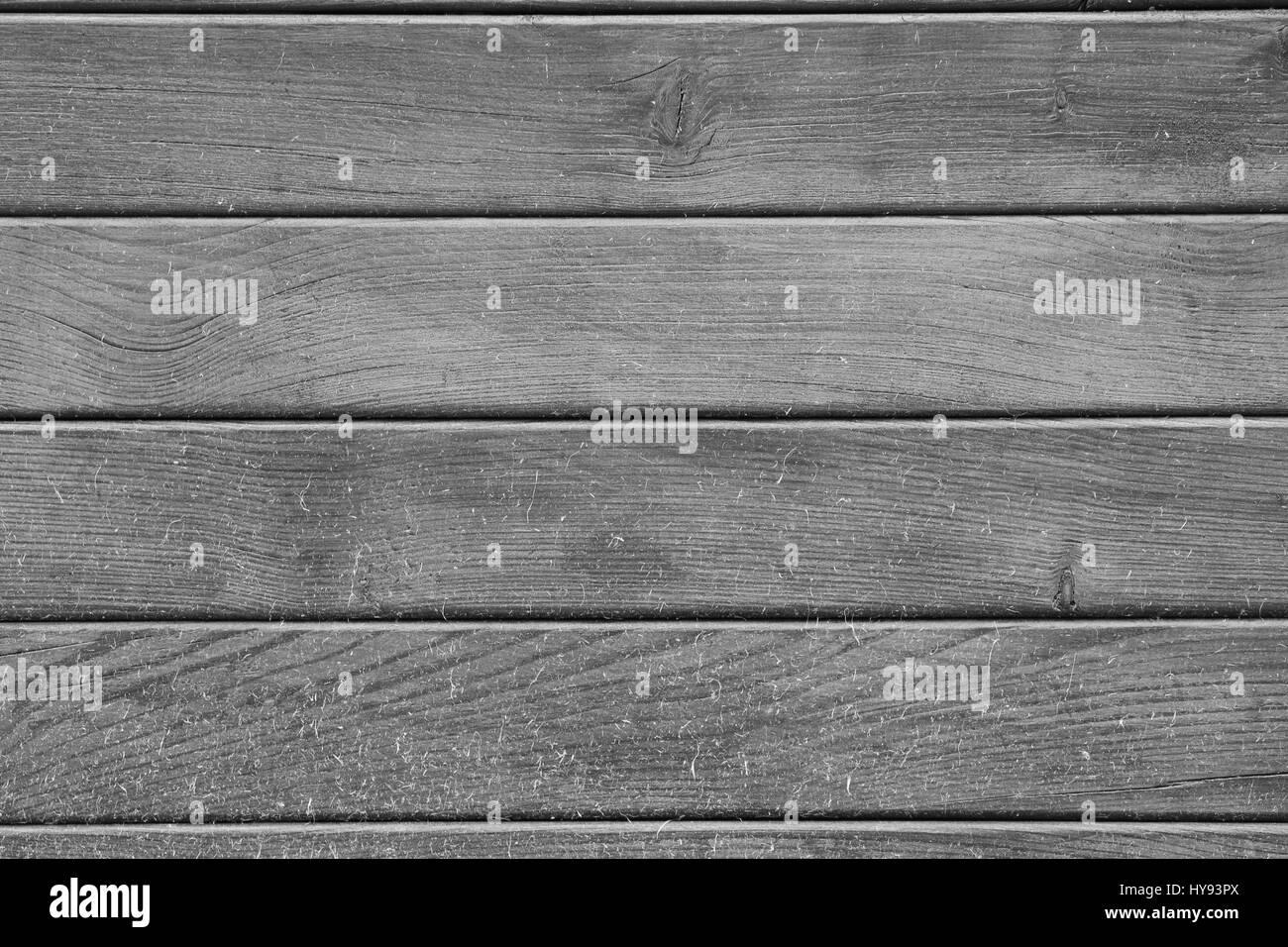 Hintergrund Holz Holzbrett schwarz-weiß grau - Stock Image