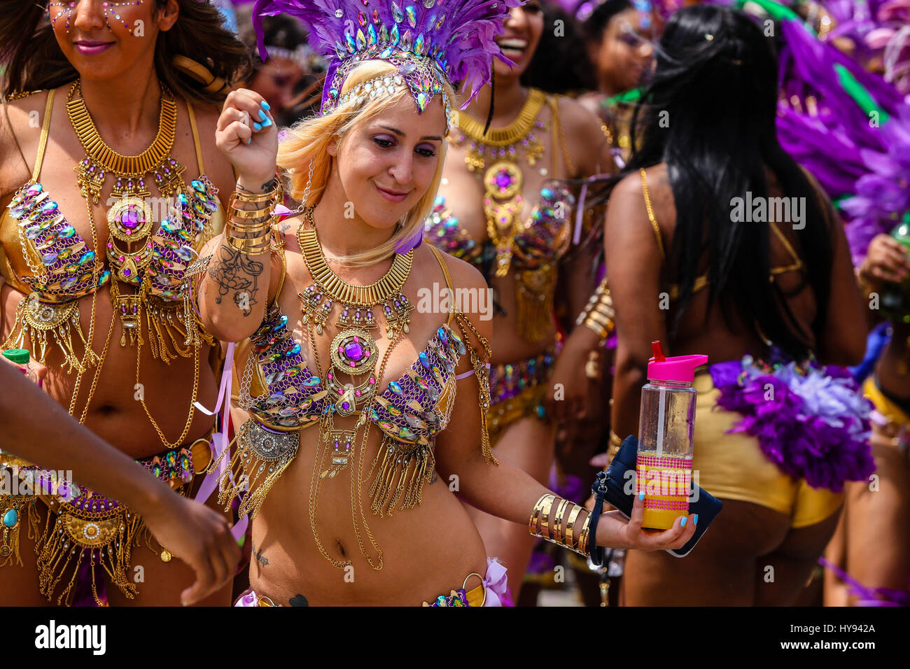 TORONTO, CANADA - JULY 20, 2016: Marchers in costume at The