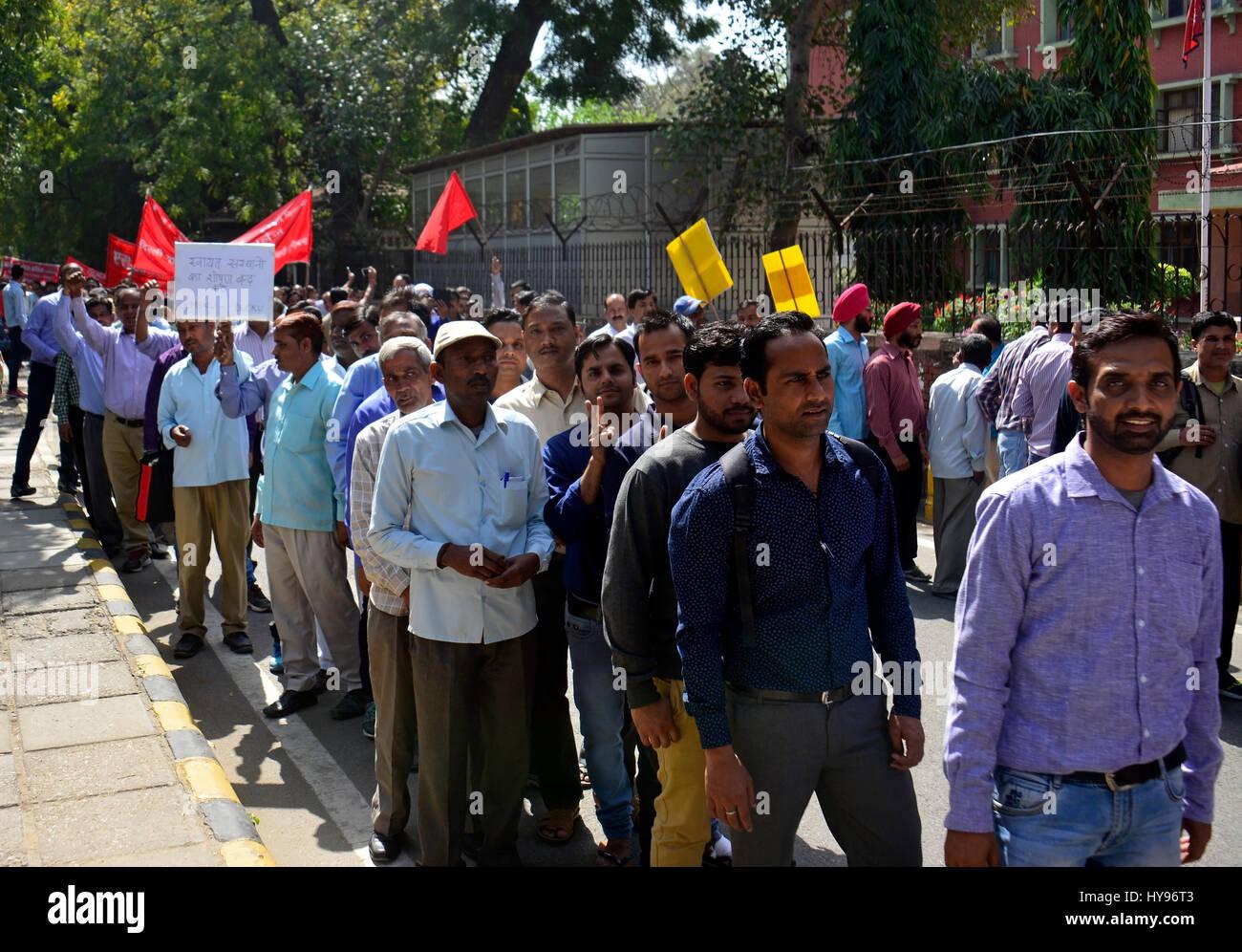 DUCKU Dharna on Jantar Mantar - Stock Image