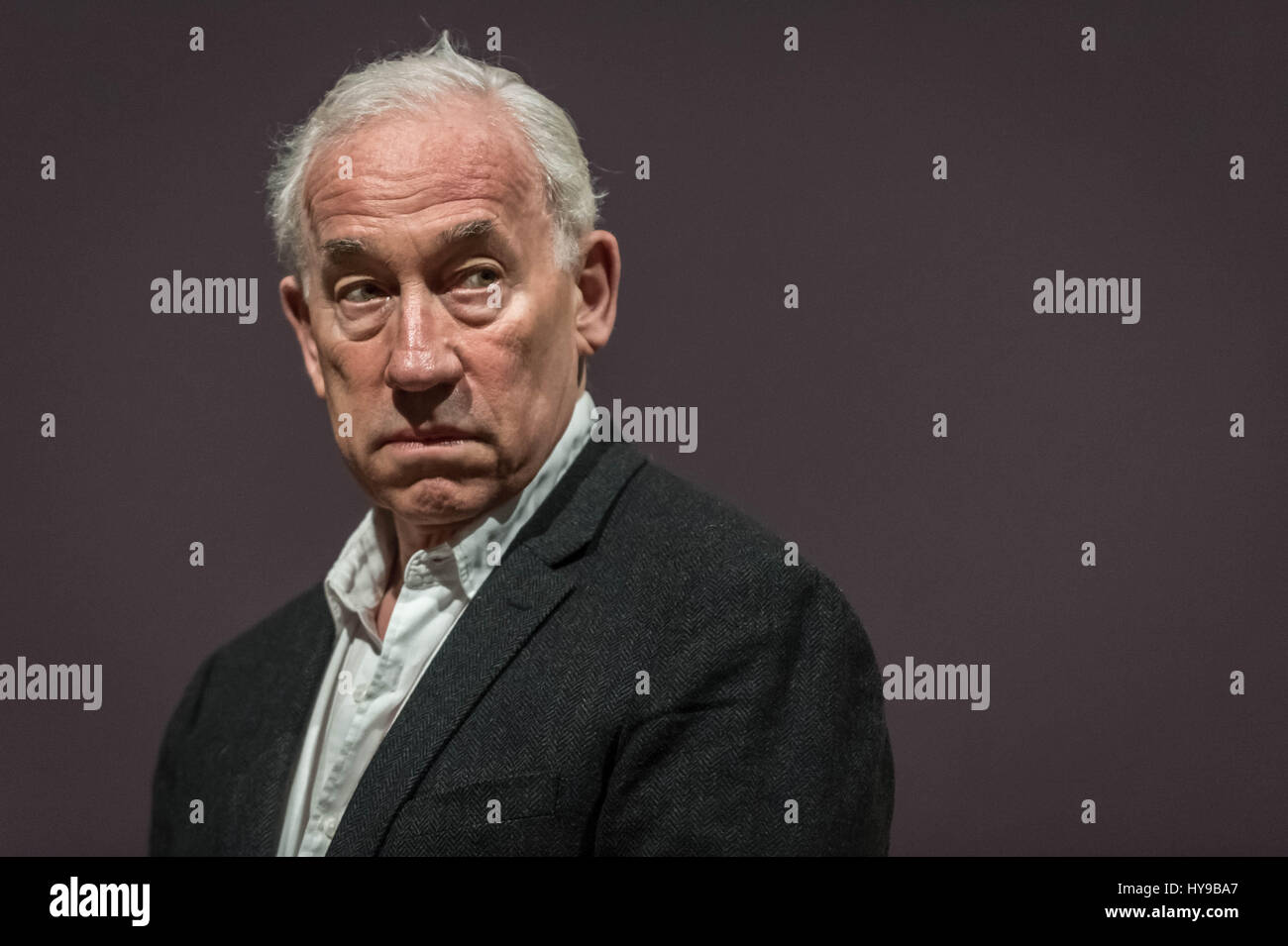 Simon Callow (67), CBE. English actor, musician, writer, and theatre director. Photographed in London, UK. - Stock Image