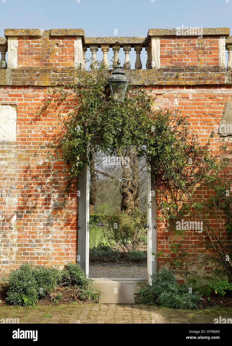 Entrance Into A Medieval Walled Garden Stock Photos & Entrance Into ...