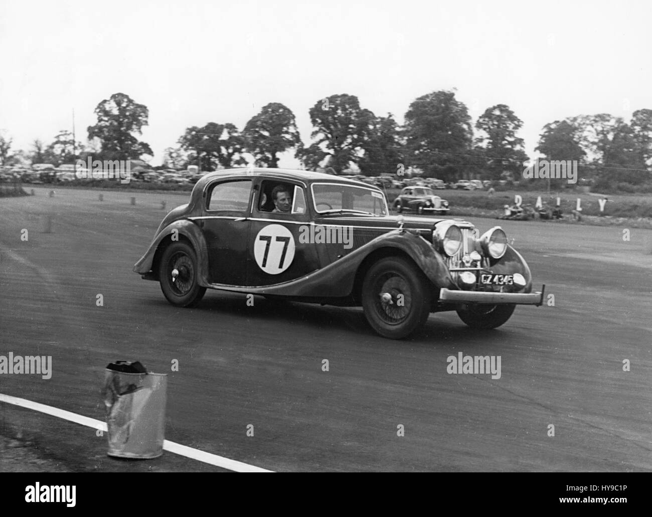 1946 Jaguar 3.5 litre at the Eight Clubs meeting Silverstone - Stock Image