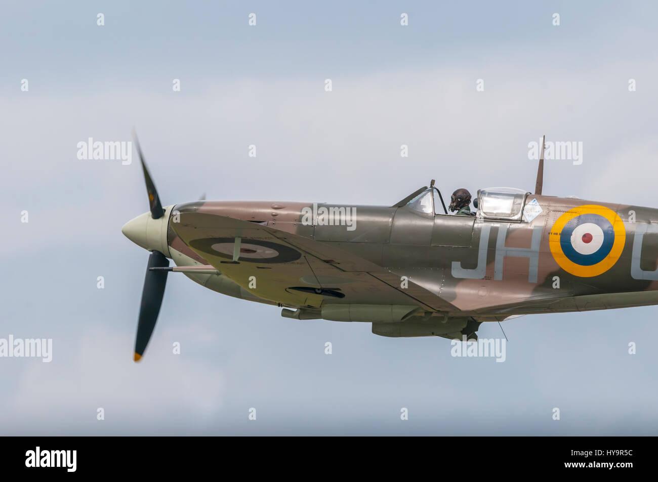 Vintage Spitfire warbird Stock Photo