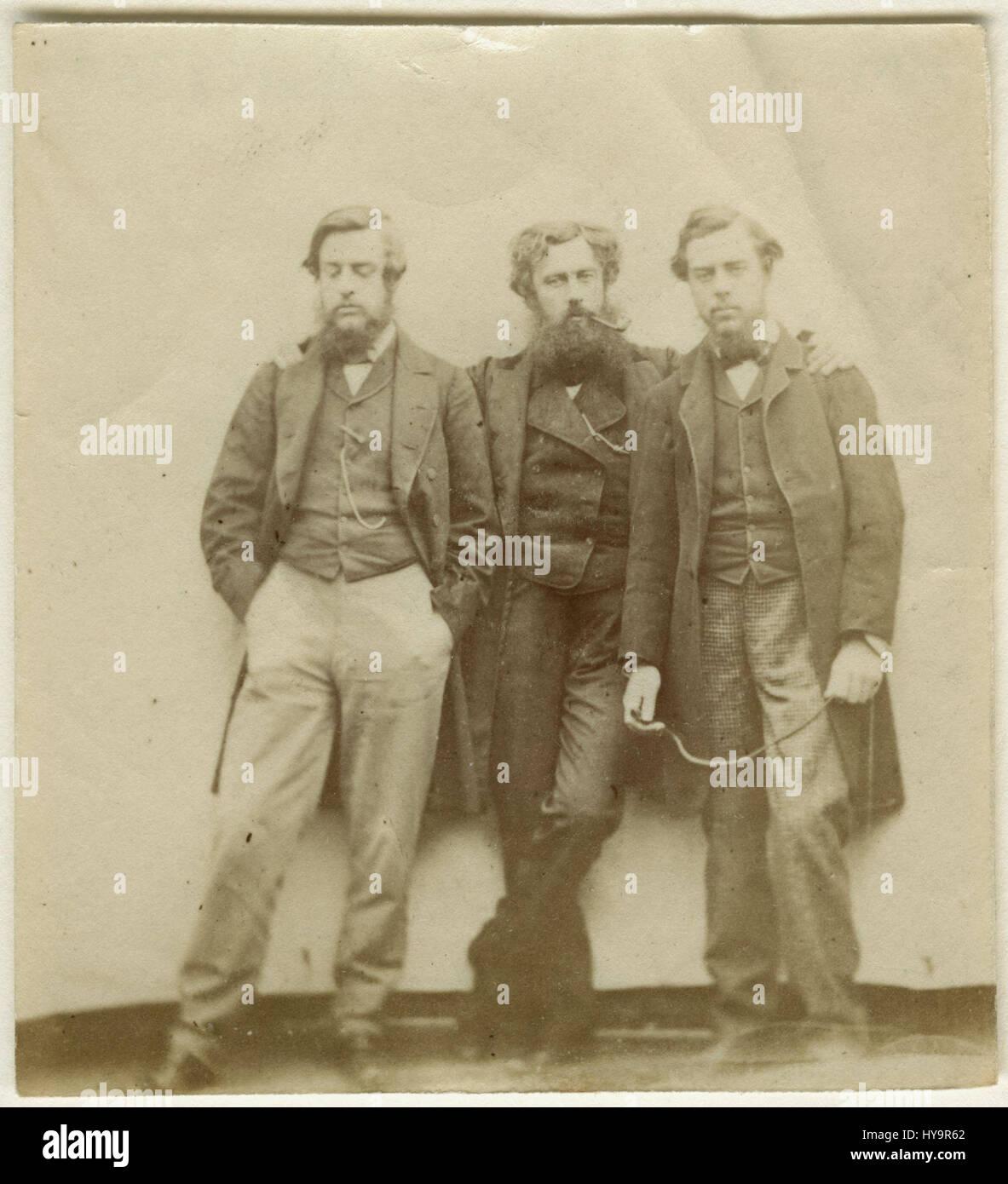 Christopher Charles Hollyer; Samuel Hollyer Jnr; Frederick Hollyer from NPG - Stock Image