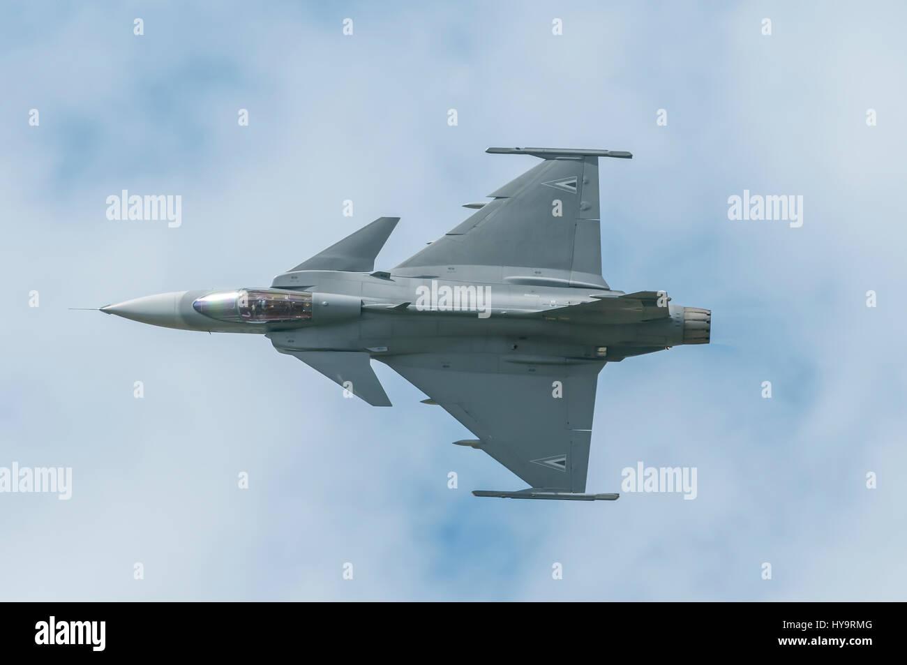 Saab JAS 39 Gripen is a light single-engine multirole