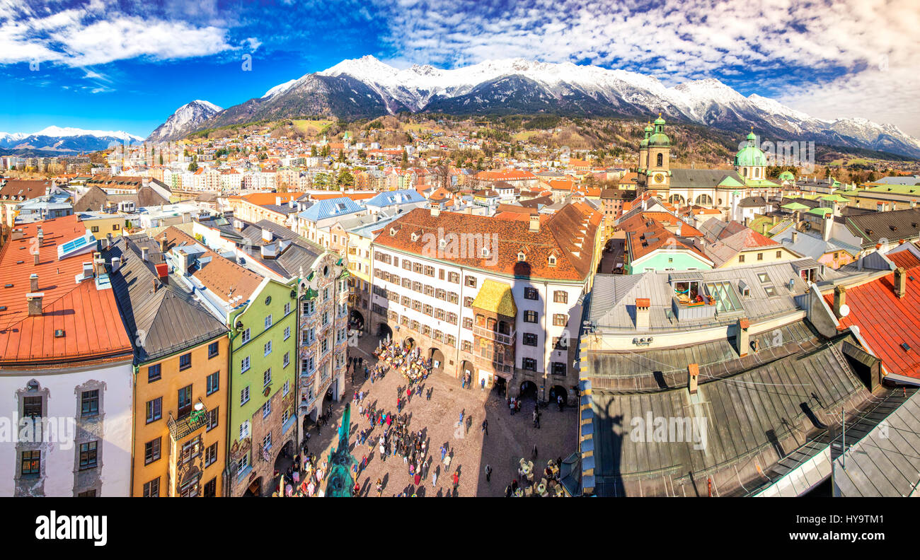 Innsbruck Austria March 11 2017 People In Innsbruck