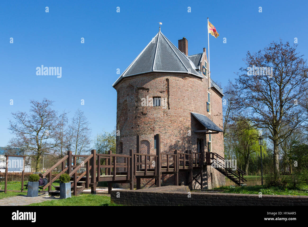 The house Dever in Lisse is an medieval house build in the 14th century by Reinier Dever. The old building is unique - Stock Image