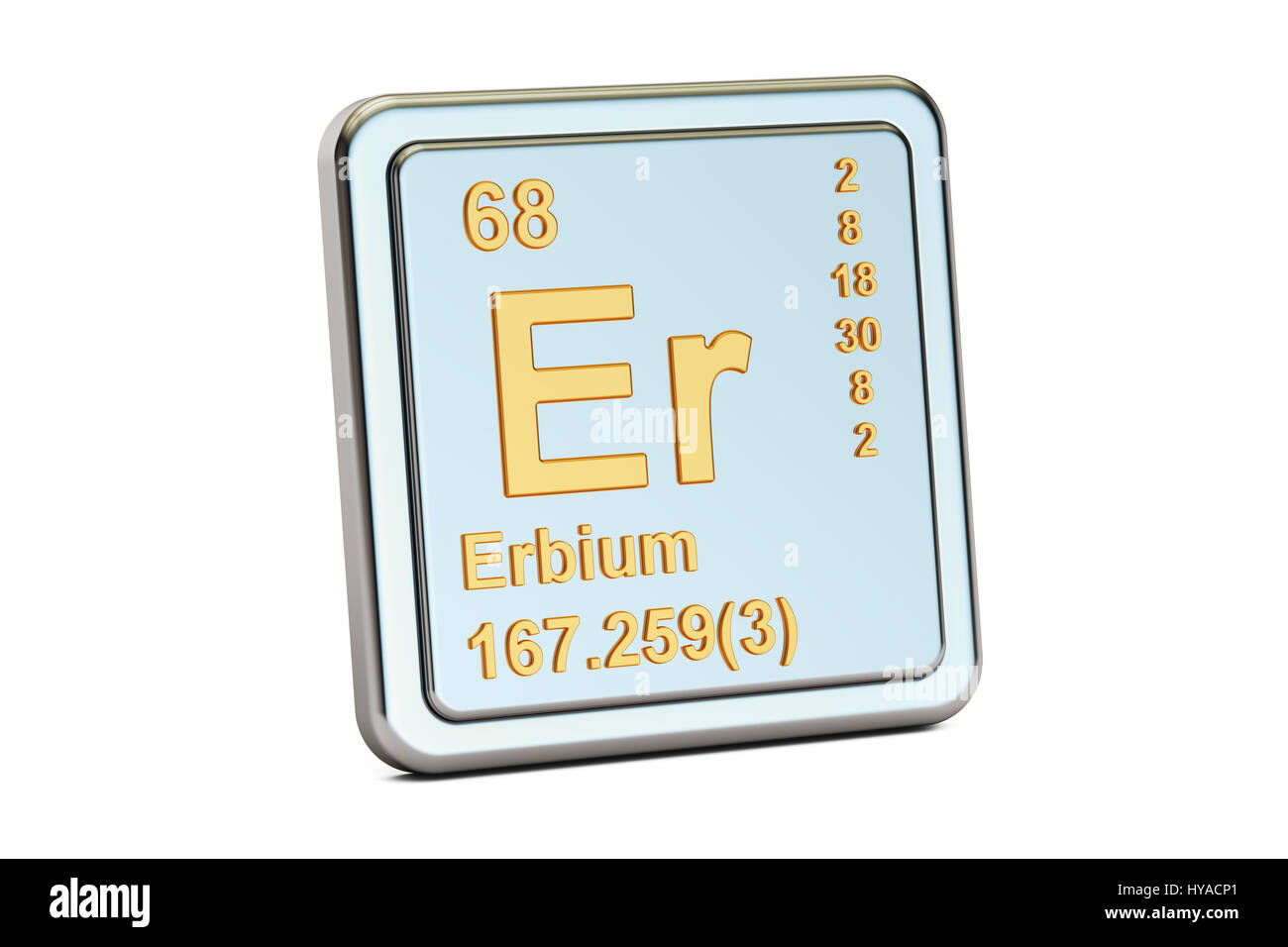Symbol Chemical Element Erbium Cut Out Stock Images Pictures Alamy