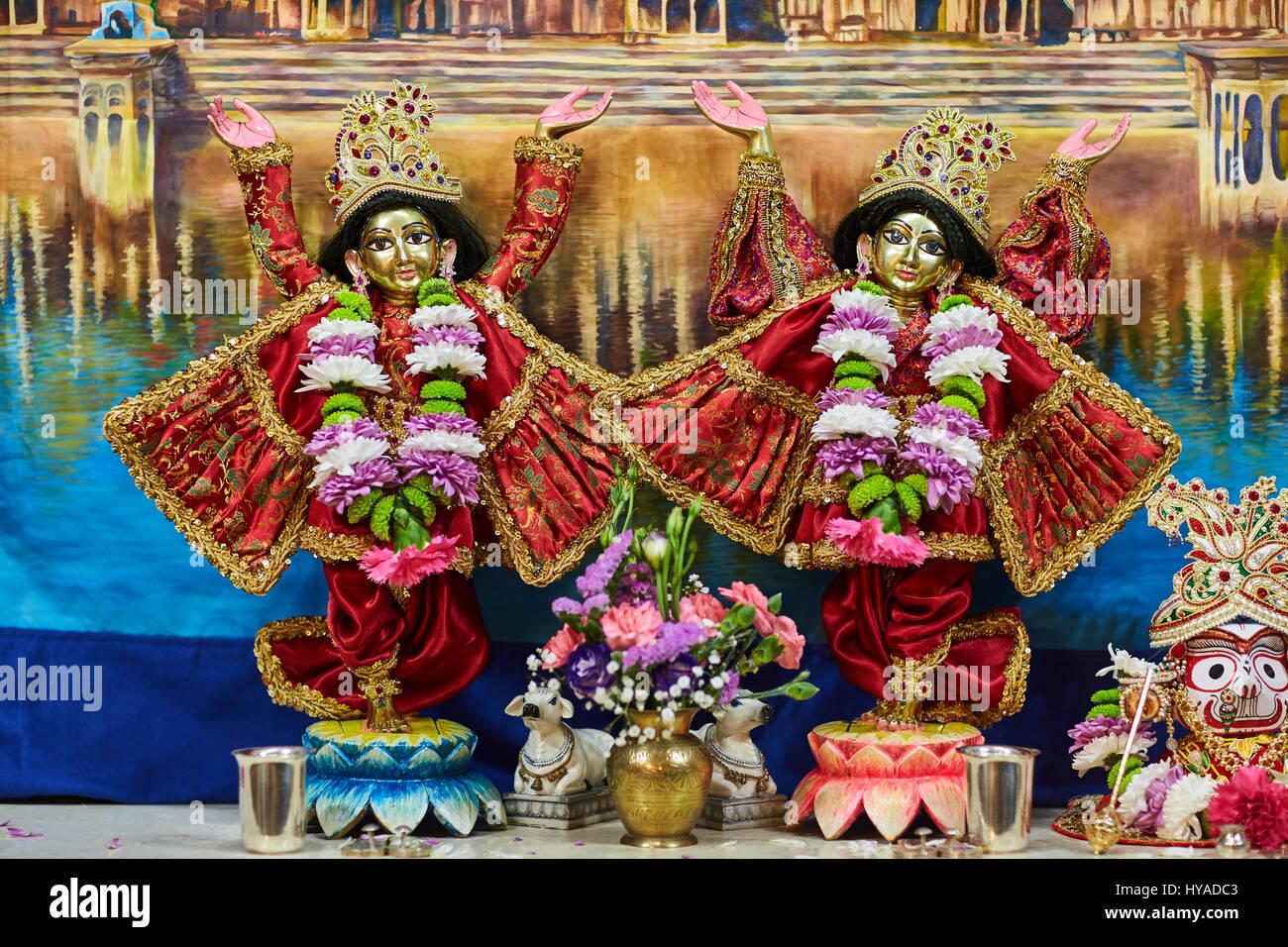 Ariel - 16 February 2017: Sri Sri Nitay-Gauracandra deities Stock Photo