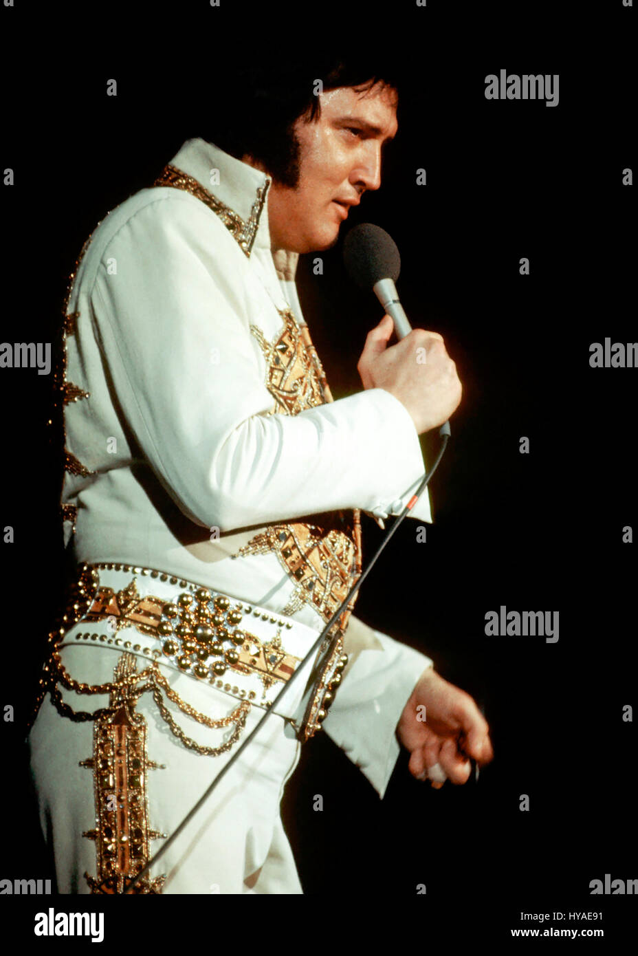 Elvis Presley In Concert At The Providence Civic Center On May 23 Stock Photo Alamy