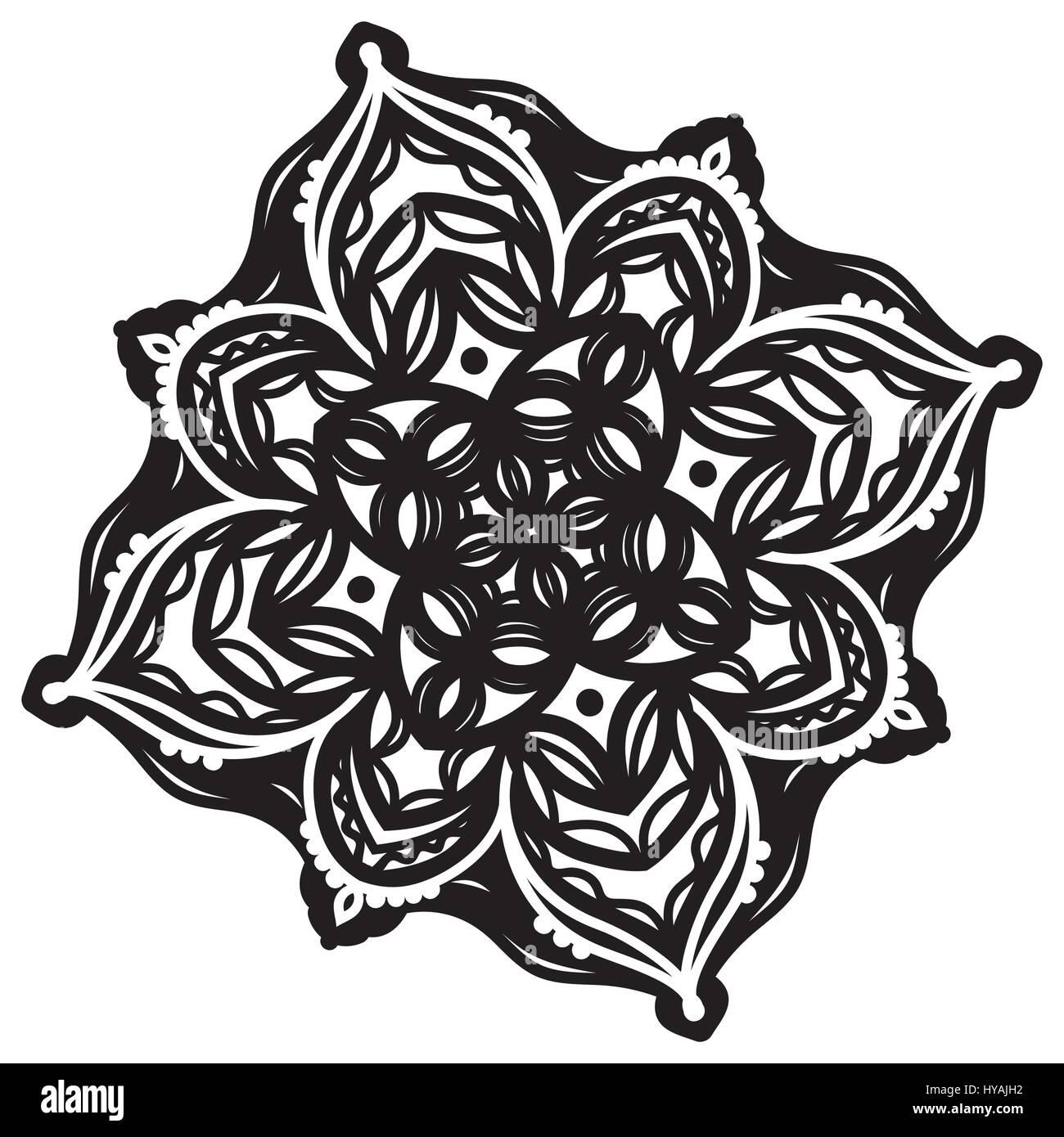 Abstract mandala design - Stock Image