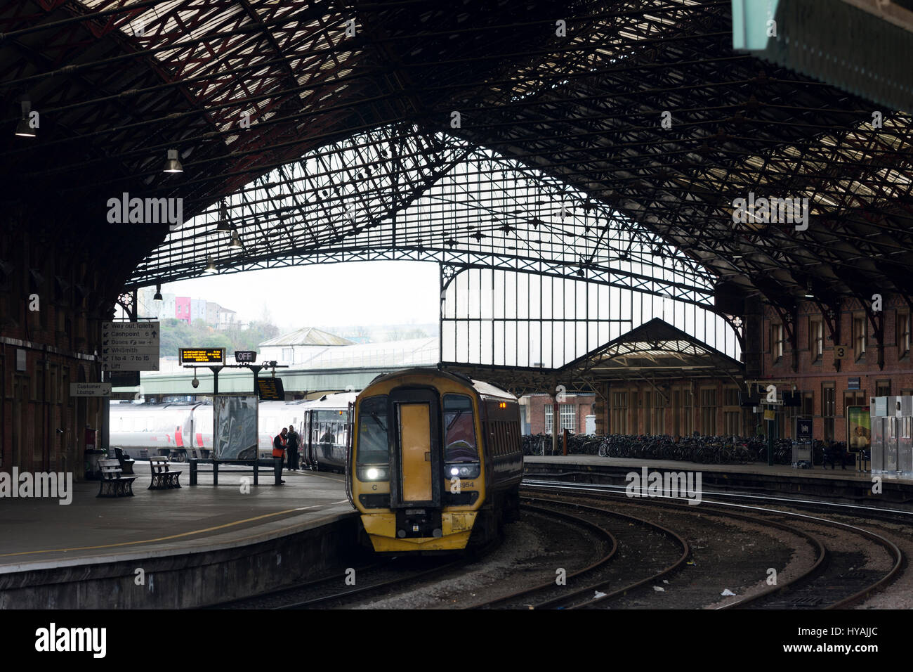 First Great Western class 158 diesel  train at Bristol Temple Meads station, UK Stock Photo