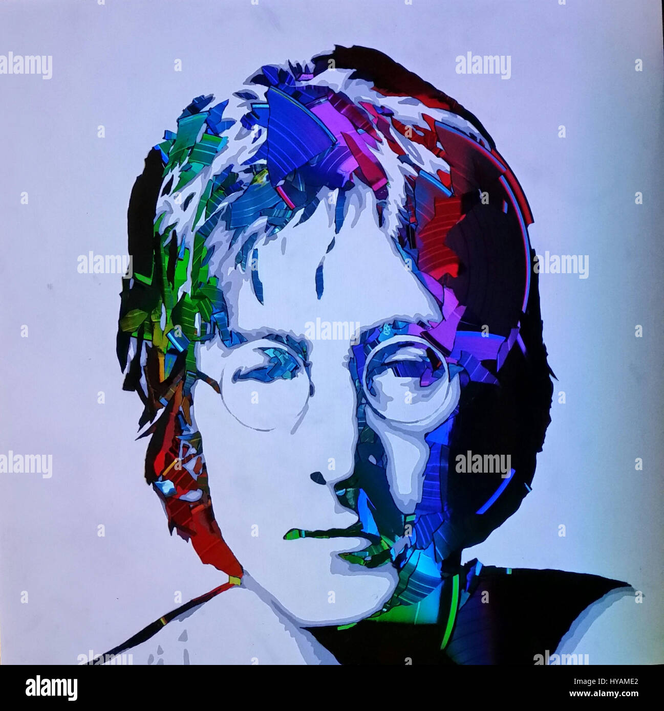 LONDON UK John Lennon With LEDs YOULL BE Getting In A