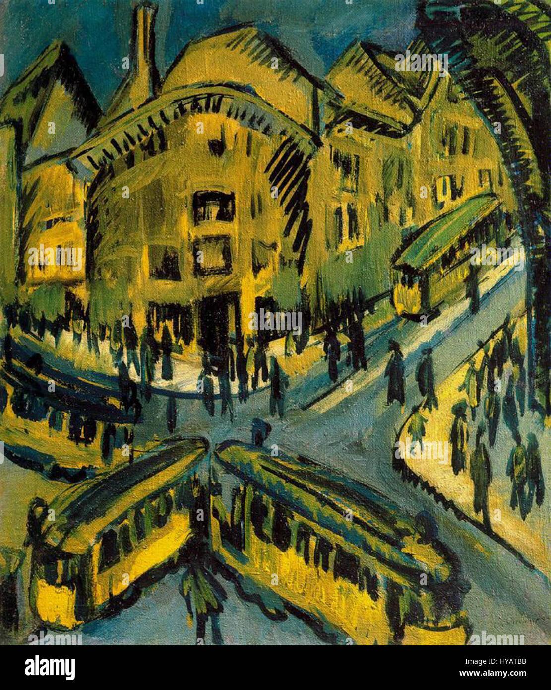 Ernst Ludwig Kirchner   Nollendorfplatz - Stock Image