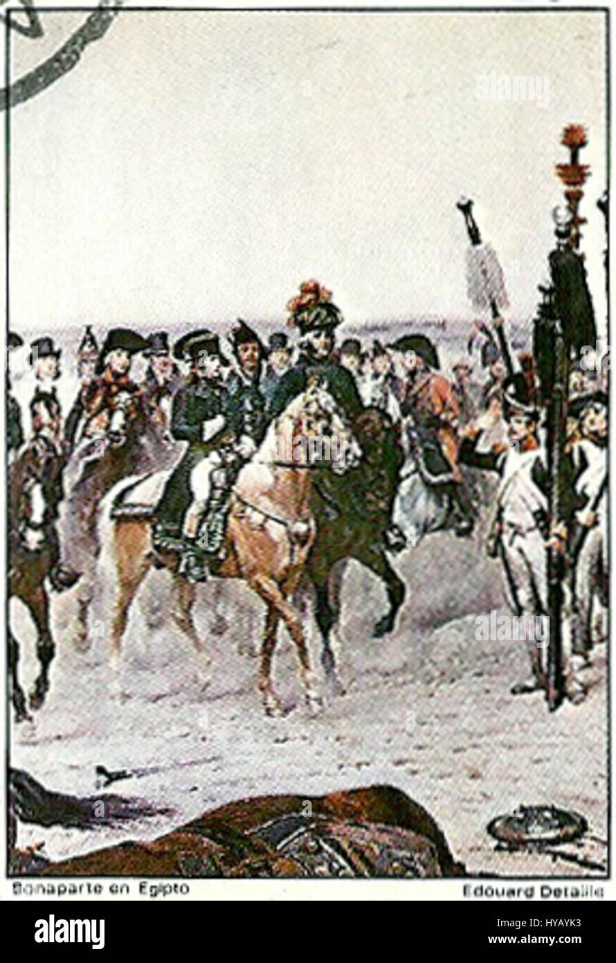 Bonaparte en Egipto - Stock Image