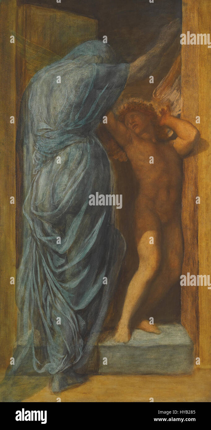 George Frederic Watts   Love and Death Stock Photo