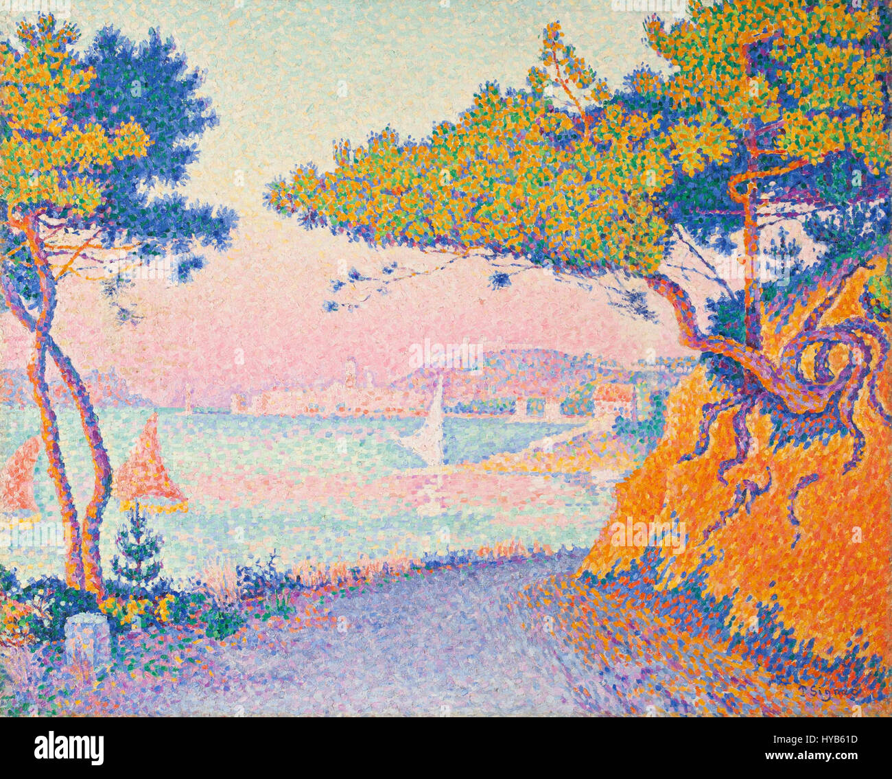 Golfe Juan by Paul Signac (1863 1935)   IMG 7171 Stock Photo