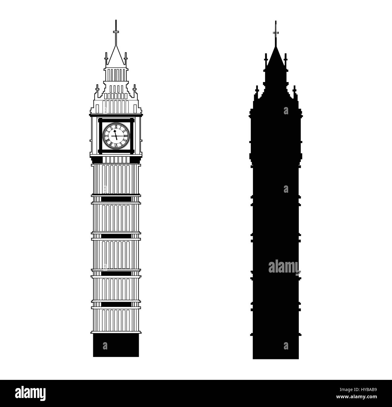 big ben vector stock vector art illustration vector image rh alamy com big ben vector silhouette big ben vector illustration