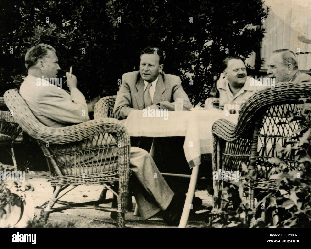 President of Yugoslavia Josip Broz Tito receives American delegation, Brioni, Yugoslavia Stock Photo