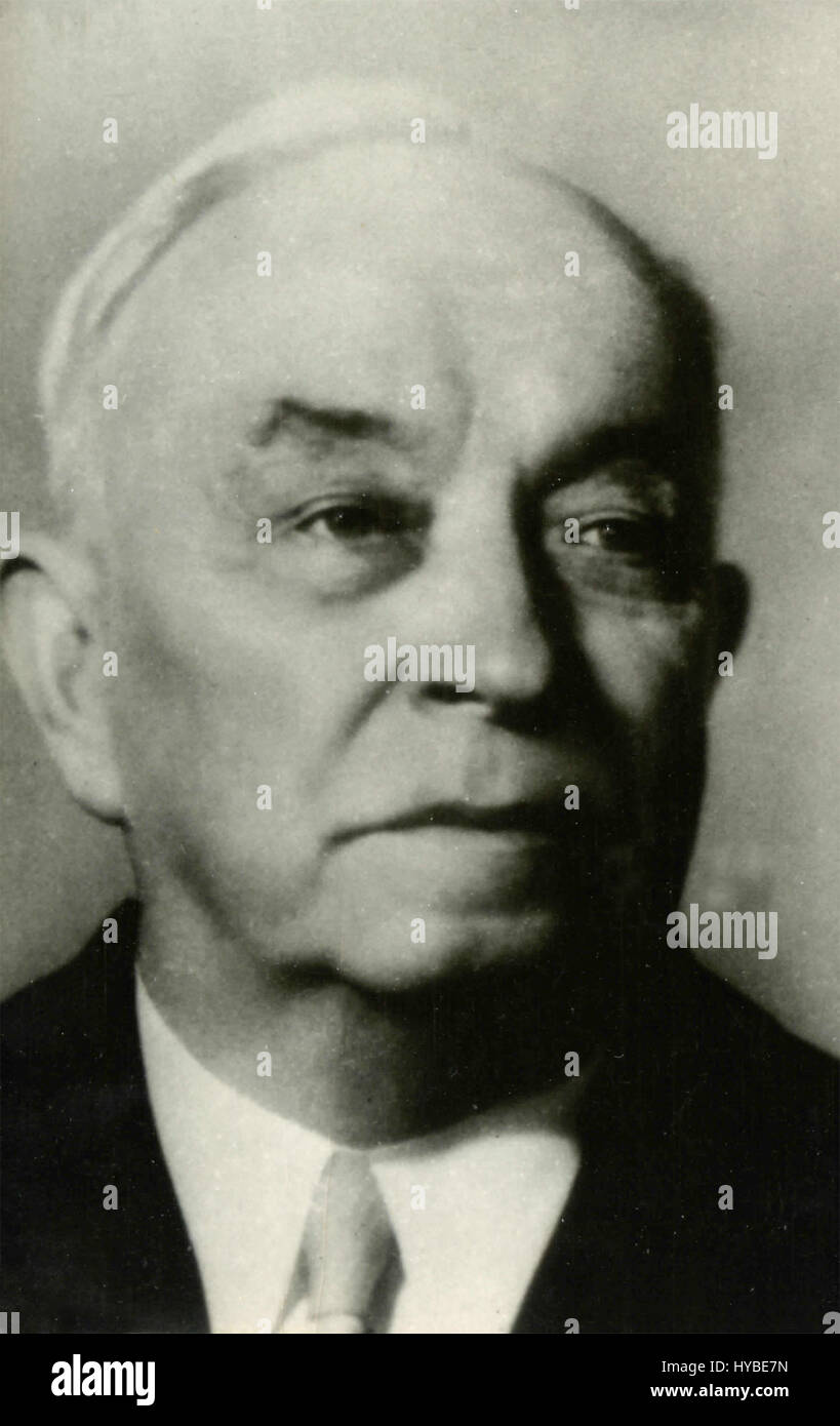 Mr. Kuusinen, member of the Soviet Presidium, USSR - Stock Image