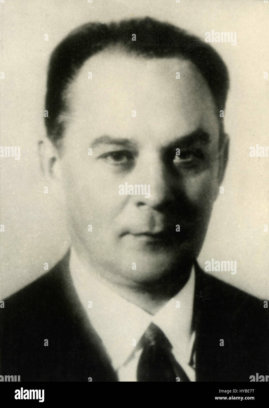 Mr. Shelepin, member of the Soviet Presidium, USSR - Stock Image