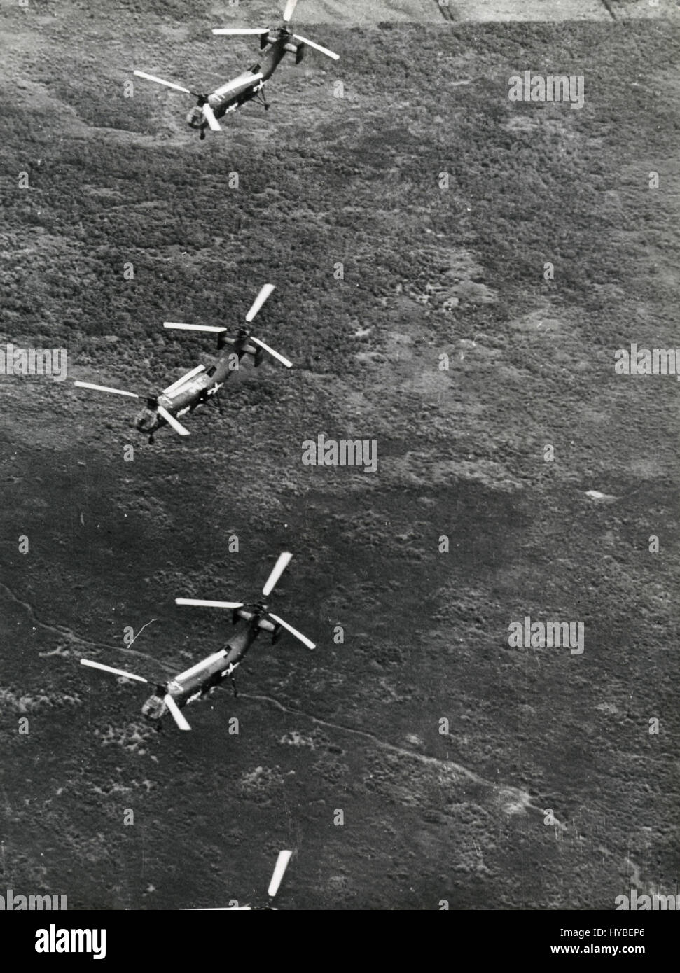 US Air Force helicopters, Vietnam - Stock Image