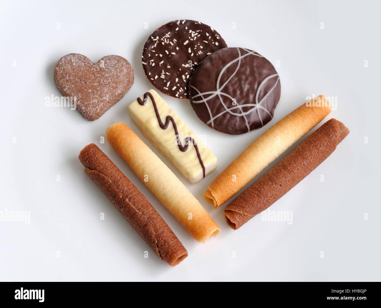 Belgian biscuits - Stock Image