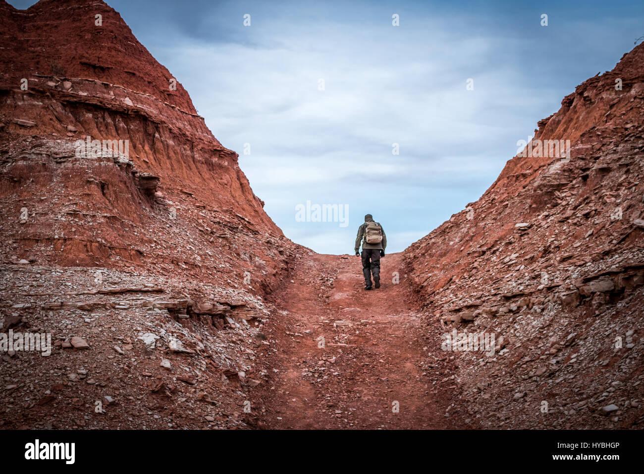 Climbing a Hill - Stock Image
