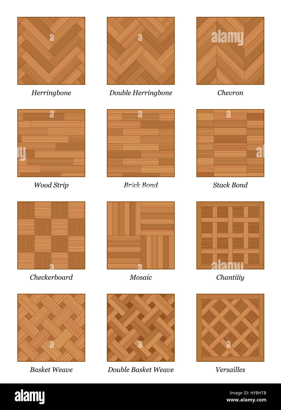 parquet pattern chart most popular parquetry wood flooring samples stock photo 137323771 alamy. Black Bedroom Furniture Sets. Home Design Ideas