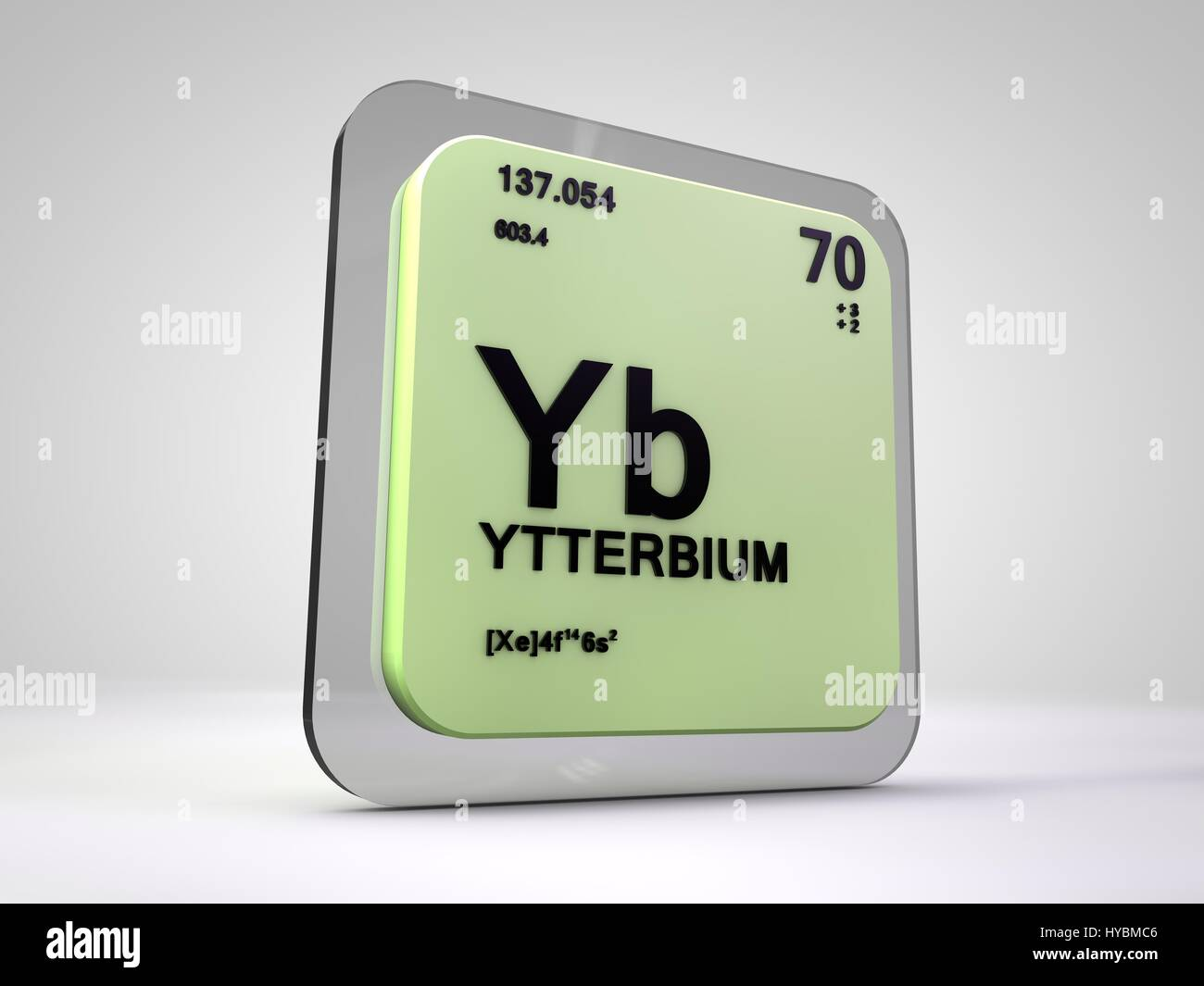 Ytterbium yb chemical element periodic table 3d render stock ytterbium yb chemical element periodic table 3d render urtaz Images