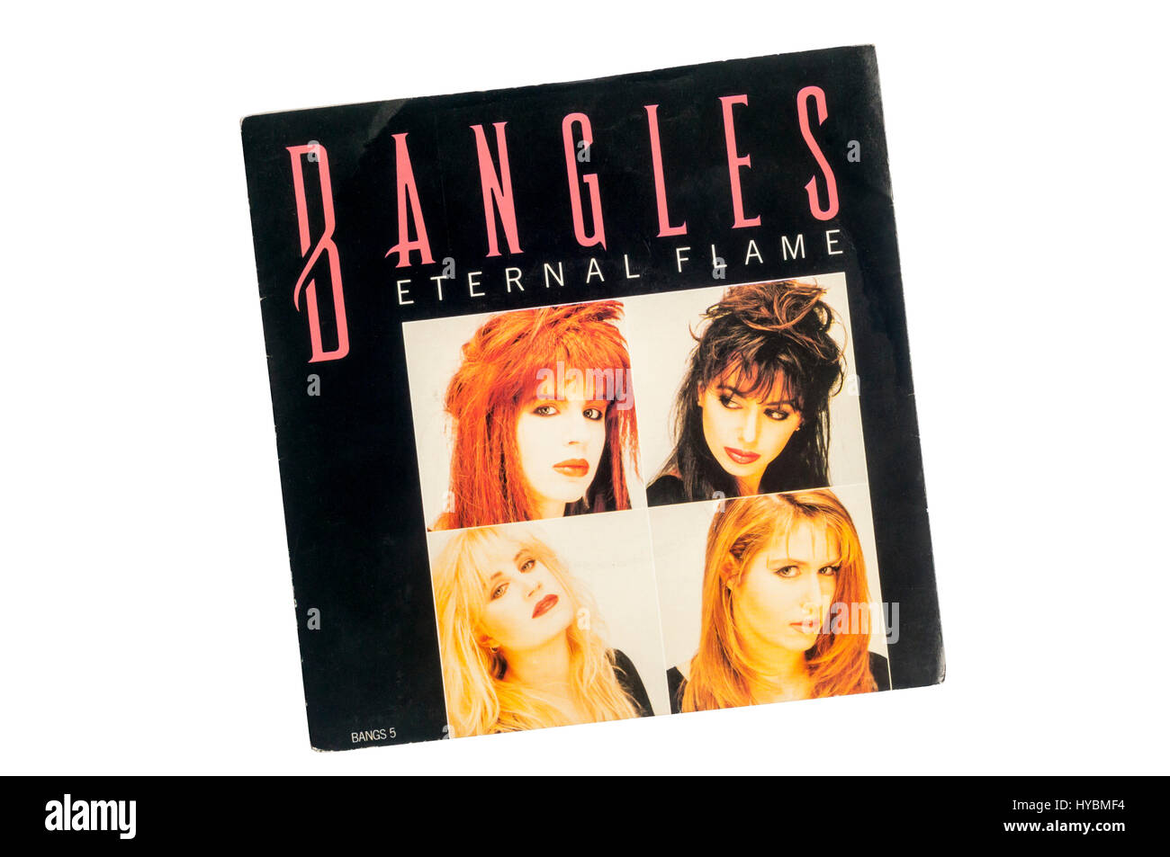 Eternal Flame was a single by American band Bangles from their album Everything.  It was released in 1988. - Stock Image