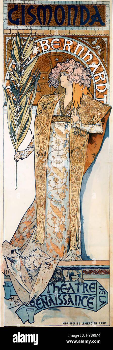Alfons Mucha   1894   Gismonda - Stock Image