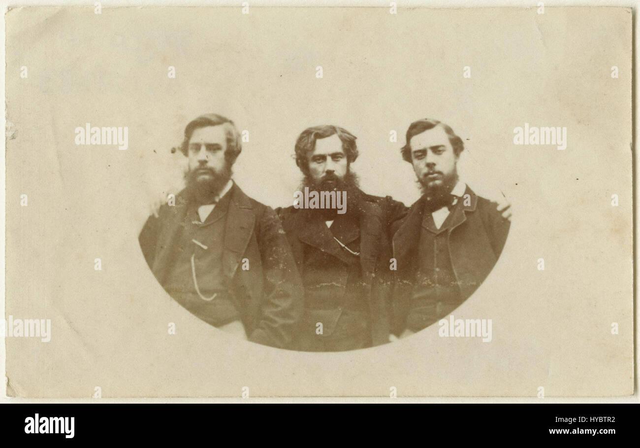 Christopher Charles Hollyer; Samuel Hollyer Jnr; Frederick Hollyer from NPG (2) - Stock Image