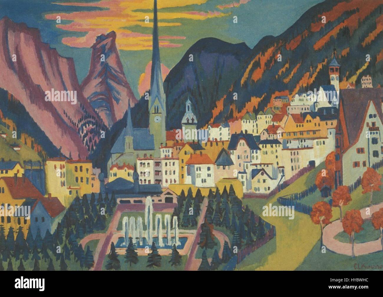Ernst Ludwig Kirchner Davos im Sommer - Stock Image