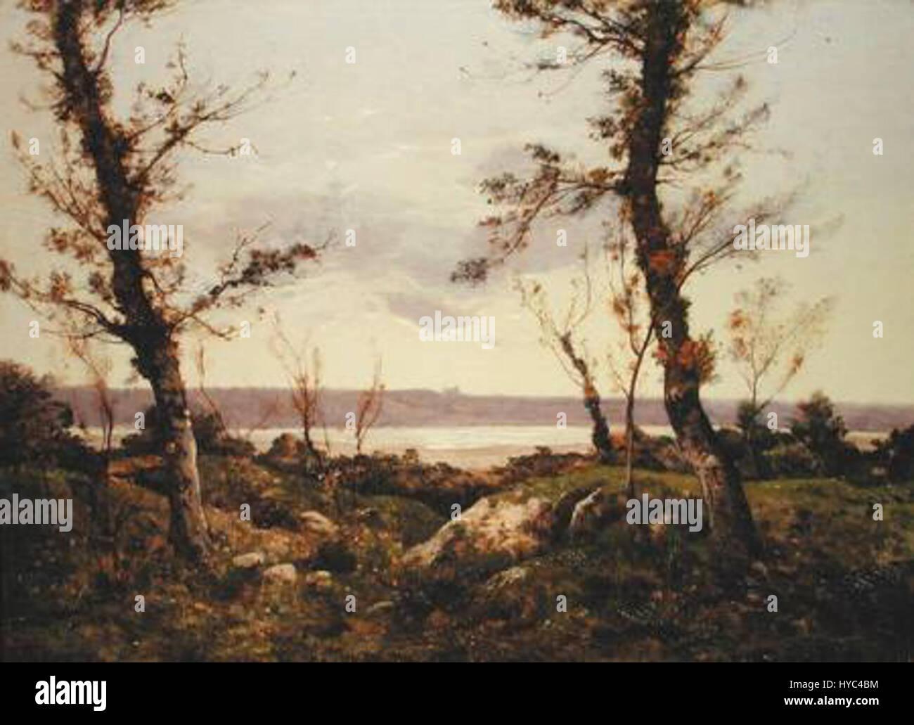 Henri Harpignies   The Estuary, 1895 - Stock Image
