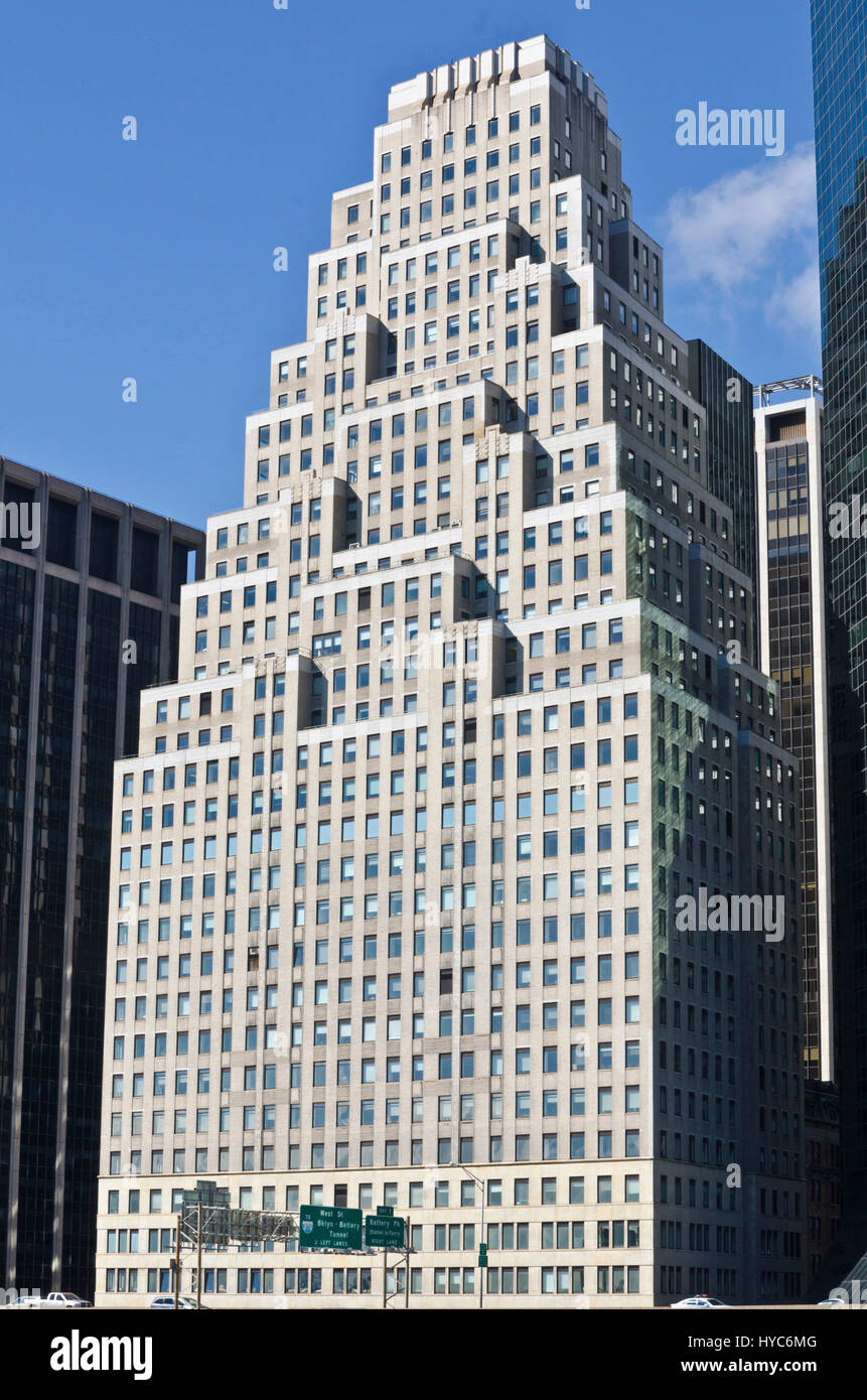 120 wall street building, manhattan, new york, usa - Stock Image