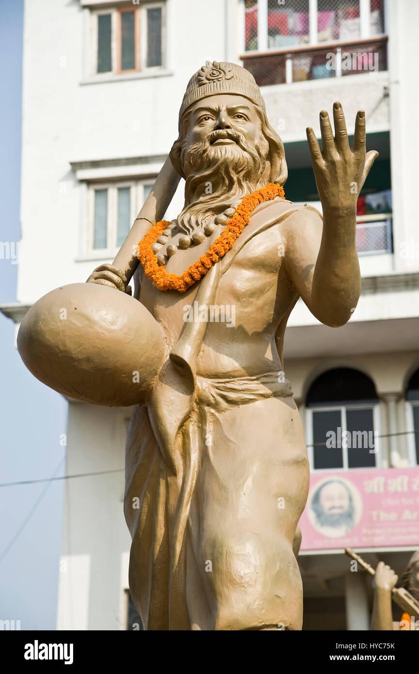statue kabir das, varanasi, uttar pradesh, Asia, India - Stock Image