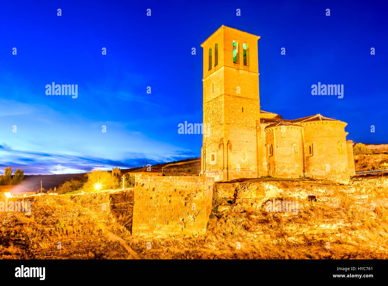 Segovia, Spain. 12-sided church of Vera Cruz built by Knights Templar in 13th century. - Stock Image