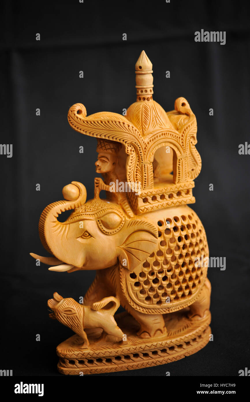 Sandalwood Elephant Handicraft Jaipur Rajasthan India Bdr
